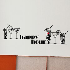 Euro Happy Hour Wall Decal