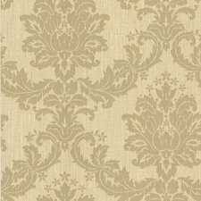 """Cortina III Everest Scrubbable and Strippable 27' x 27"""" Damask 3D Embossed Wallpaper"""