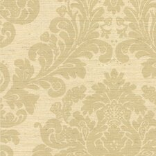 """Cortina III Anders Scrubbable and strippable Grasscloth 27' x 27"""" Damask 3D Embossed Wallpaper"""