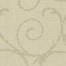 """Cortina III Bates Scrubbable and Strippable 27' x 27"""" Scroll 3D Embossed Wallpaper"""
