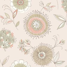 "Simple Space II Maisie 33' x 20.5"" Floral 3D Embossed Wallpaper"