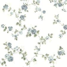 "Claremont Cornelia Rose Trail 33' x 20.5"" Floral 3D Embossed Wallpaper"