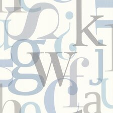 "Kitchen & Bath Resource III Angus Vintage 33' x 20.5"" Letter Font 3D Embossed Wallpaper"