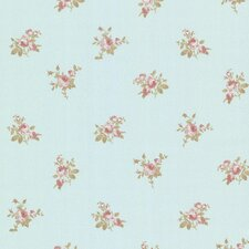 """Claremont Petra Roselle Toss 33' x 20.5"""" Floral 3D Embossed Wallpaper"""