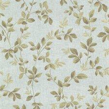 """Claremont Cleo Dog Rose Leaf Trail 33' x 20.5"""" Floral Embossed Wallpaper"""