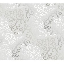 "Christel Fading Busy Toss 27' x 27"" Scroll 3D Embossed Wallpaper"