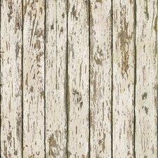"Borders by Chesapeake Harley Weathered 33' x 20.5"" Wood 3D Embossed Wallpaper"