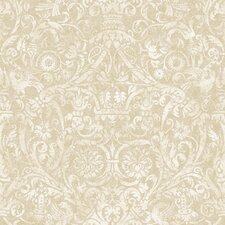 "Brilliance Bali 27' x 27"" Damask 3D Embossed Wallpaper"