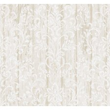 """Pure Country Reba Faux Wood 33' x 20.5"""" Floral 3D Embossed Wallpaper"""