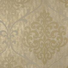 "Sparkle Ambrosia Glitter 33' x 20.5"" Damask 3D Embossed Wallpaper"