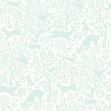 "Hide and Seek Anahi Forest Fauna 33' x 20.5"" Wildlife Embossed Wallpaper"