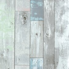 "Bath Bath Bath Volume IV Dean Distressed 33' x 20.5"" Wood 3D Embossed Wallpaper"