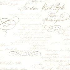 "Bath Bath Bath Volume IV Ferdinand Poetic Script 33' x 20.5"" 3D Embossed Wallpaper"