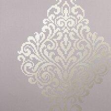 "Sparkle Lux Foil 33' x 20.5"" Damask 3D Embossed Wallpaper"