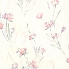 "For Your Bath II Veldt Chic 33' x 20.5"" Floral Wallpaper"