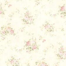 "For Your Bath II Carolina Rose Bouquet 33' x 20.5"" Floral Wallpaper"
