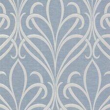 "Platinum Lalique Noeuveau 33' x 20.5"" Scroll Wallpaper"