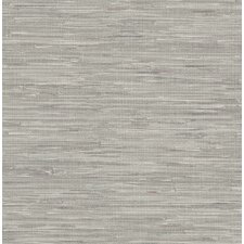 "Ami Natalie Grasscloth Print 33' x 20.5"" Wallpaper"