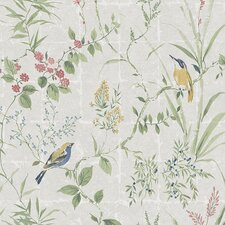 """Empress Imperial Garden Chinoiserie 33' x 20.5"""" Floral Wallpaper"""