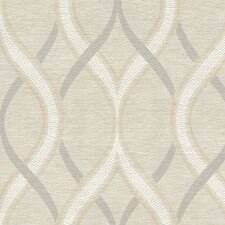 "Symetrie Frequency Ogee 33' x 20.5"" Geometric Wallpaper"