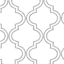 "Symetrie Tetra Quatrefoil 33' x 20.5"" Trellis Wallpaper"