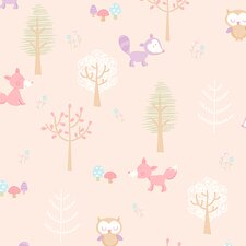 "You Are My Sunshine 33' x 20.5"" Forest Friends Animal Wallpaper"