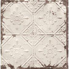 """Tin Ceiling Distressed 33' x 20.5"""" Geometric Wallpaper"""
