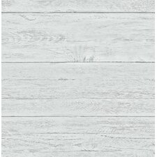 "White Washed Boards Ship-lap 2' x 20.5"" Wood Wallpaper"