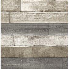 "Weathered Plank 2' x 20.5"" Brick Wallpaper"