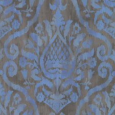 "Savor 33' x 20.5"" Argos Damask Panel Wallpaper"