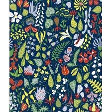 "Wall Vision 33' x 20.9"" Herbarium Floral Motif Wallpaper"