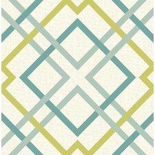 "Saltire 33' x 20.5"" Lattice Wallpaper"