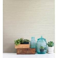 "Jade Martina Grasscloth 24' x 36"" Gingham Wallpaper"
