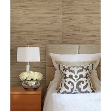 "Jade Andrei Grasscloth 24' x 36"" Gingham Wallpaper"