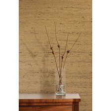 "Jade Filip Grasscloth 24' x 36"" Stripe Wallpaper"