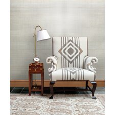 "Jade Stelios Grasscloth 24' x 36"" Gingham Wallpaper"