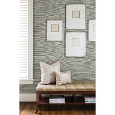 "Jade Barbora Grasscloth 24' x 36"" Gingham Wallpaper"