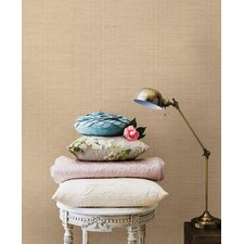 "Jade Ruslan Grasscloth 24' x 36"" Gingham Wallpaper"