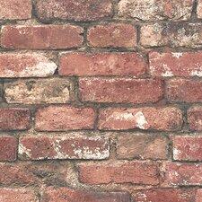 """Essentials Loft 33' x 20.5"""" Brick Wallpaper"""
