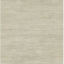 "Essentials 33' x 20.5"" Island Gray Grasscloth Wallpaper"