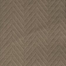 Joseph Abboud Designed Herringbone Grasscloth Wallpaper in Dark Color
