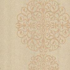 "Kitchen and Bath Resource II Salon Medallion 33' x 20.5"" Damask 3D Embossed Wallpaper"