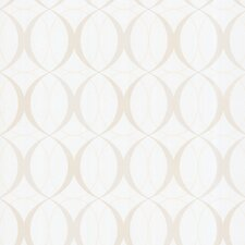 "Zinc Circulate Retro Orb 33' x 20.5"" Geometric 3D Embossed Wallpaper"