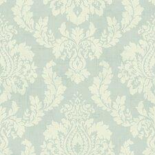 """Springtime Cottage Ombre String 33' x 20.5"""" Damask 3D Embossed Wallpaper"""