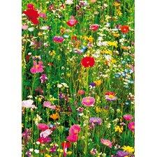 Ideal Decor Flower Field Wall Mural