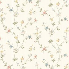 "Dollhouse Deanna Trail 33' x 20.5"" Floral and Botanical 3D Embossed Wallpaper"