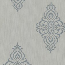 "Buckingham Powell Medallion 33' x 20.5"" Damask 3D Embossed Wallpaper"