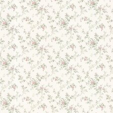 "Dollhouse Janine Climbing 33' x 20.5"" Floral and Botanical 3D Embossed Wallpaper"