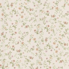 "Dollhouse Sophie 33' x 20.5"" Floral and Botanical 3D Embossed Wallpaper"