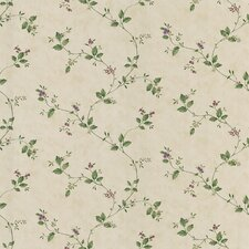 "Dollhouse Veronica 33' x 20.5"" Floral and Botanical 3D Embossed Wallpaper"